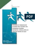 Protocolo Rehabilitacion Pulmonar EPOC SSMO