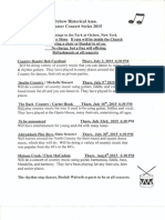 Oxbow Summer Concert Series 2015