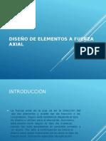 Diseño de Elementos a Fuerza Axial