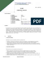 Silabo -06603 Fundicion y Moldeo PDF