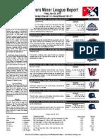 Minor League Report 15.06.26