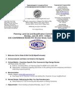 ECWANDC PLUB Committee Meeting Agenda - June 29, 2015