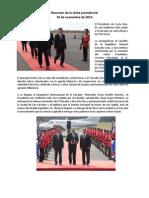 Gacetilla de Prensa Nov-2014 - Visita Oficial del Presidente de Costa Rica, Luis Guillermo Solís