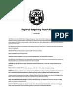 Regional Bargaining Report #5