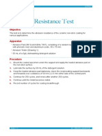 Abrasion Resistance Test