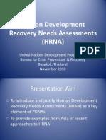 9.Human Recovery Needs HRNA