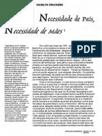 Necessidade de Pais Necessidade de Maes Sreathern, M.