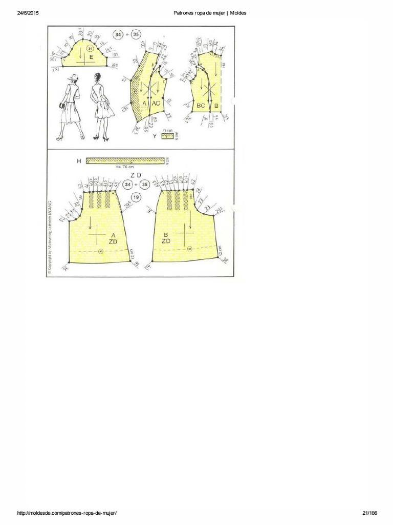 Patrones Ropa de Mujer21-40 _ Moldes