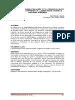Hacia La Plena Significatividad De Texto Literario. de La Lectura Comprensiva a La Competencia Literaria