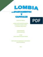 Capitales y Departamentos de Colombia
