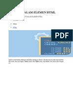 Atribut Dalam Elemen HTML