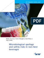 Microbiological Spoilage and Safety Risk Beverage