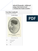 Vera Bate Lombardi Biography- additional accurate genealogy data sourced and referenced by Hammersly family member