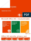 Office 365 Cloud Principles