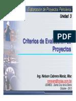 FEP_U2_1_Criterios de Evaluacion de Proyectos de Inversion I