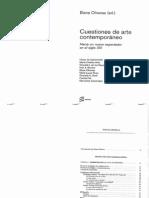 Aa.vv Cuestiones Del Arte Contemporaneo Oliveras, Elena (Ed.)