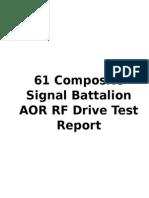 Drive Test Report