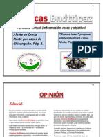 Periódico Crónicas Bndttipaz Edición Número 1. Junio de 2015.