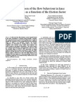A comparison of the flow behaviour in knee articulations as a function of the friction factor