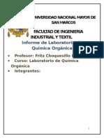 Informe #1- quimica organica