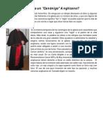 Información Canonigo vestiduras