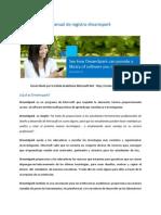 Manual de Registro Dreamspark