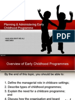 planning and administrating ECE programme