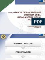 Cadena de Custodia Sara Monica Medina