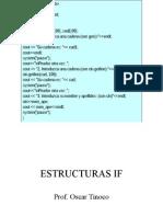 Estructuras If