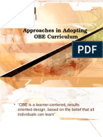 Approaches in OBE
