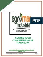 ESTUDIO EN COSTOS DEL JUGO DE MARACUYA, EMPRESA AGROMAR