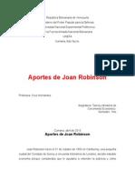 Ensayo Aportes de Joan Robinson