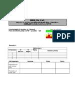 PROC-CMS001- Desmontaje de Chute y Arnero Arnero F - 600