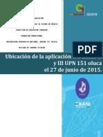 Distribucion Grupos y Alumnos Para La Aplicación Del Exani II en La UPN 151 Toluca