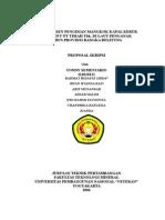 Proposal Studi Persen Pengisian Mangkok Kapal Keruk