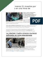 Accidentes en Mineria