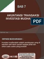 Bab 7 - Akuntansi Transaksi Investasi Mudharabah