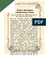Pedro Abraham Valdelomar Pinto