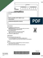 Math - Primary - Sample Test - 2013