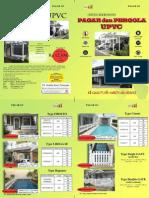 Brosur Pagar Upvc