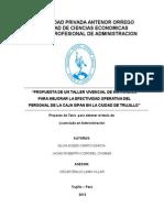 Taller Vivencial de La Caja Sipan de Trujillo-Anteproyecto Final