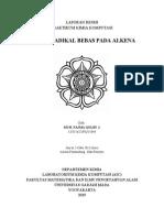 Reaksi Radikal Bebas Pada Alkena - Najma (15644)