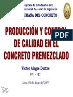 Produccion y Control en Concreto Premezclado