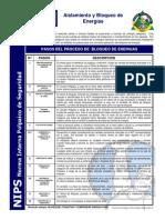 NIPS 07 Aislamiento Y Bloqueo de Energías [Norma Interna Polpaico de Seguridad]