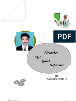 Oracle Quick Reference