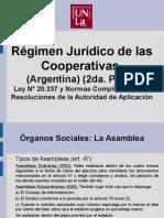Régimen Jurídico de Las Cooperativas