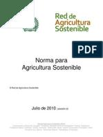 RAS Norma Para Agricultura Sostenible Julio de 2010