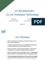 Revolutionary 22nm Transistor Technology Presentation