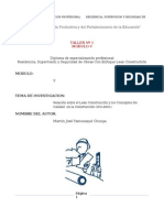 Modulo v Iso 9001 y Lean Construcction