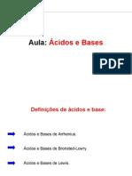 Ácido e Base - equilíbrio químico